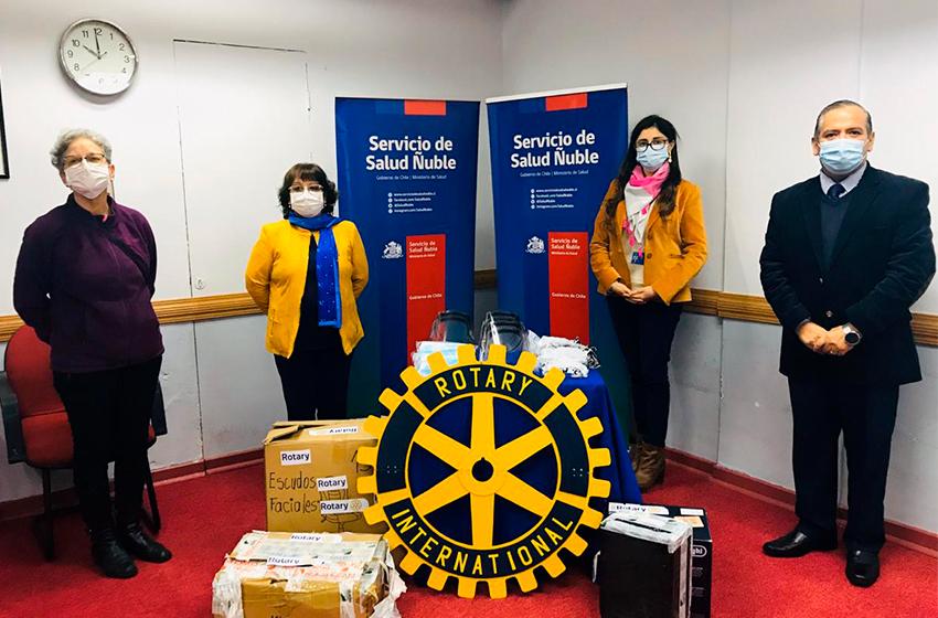 Servicio de Salud Ñuble recibió donación de elementos de protección personal del Rotary Club Chillán Viejo