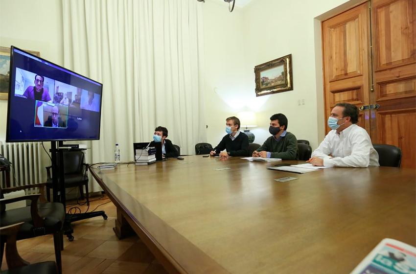 Ministro Felipe Ward encabeza reunión con Intendente Arrau para revisar estado de avance del Plan Regional de Ñuble