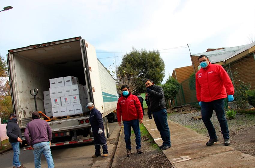 Cajas de Alimentos para Chile se entregaron en 13 comunas de Ñuble