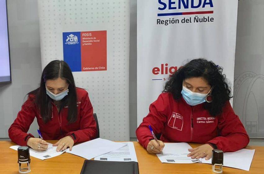FOSIS y SENDA firman convenio de trabajo colaborativo