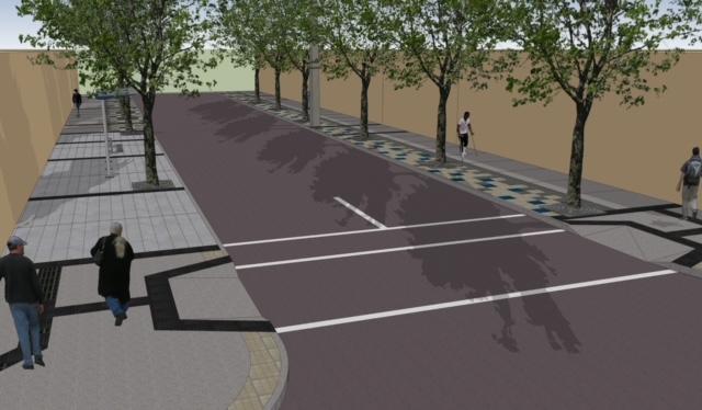 Municipio iniciará construcción de aceras en sector céntrico con acceso universal, arbolado y mobiliario