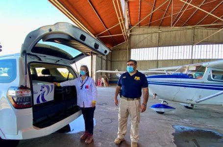 Club Aéreo Chillán realiza segundo traslado de vacunas