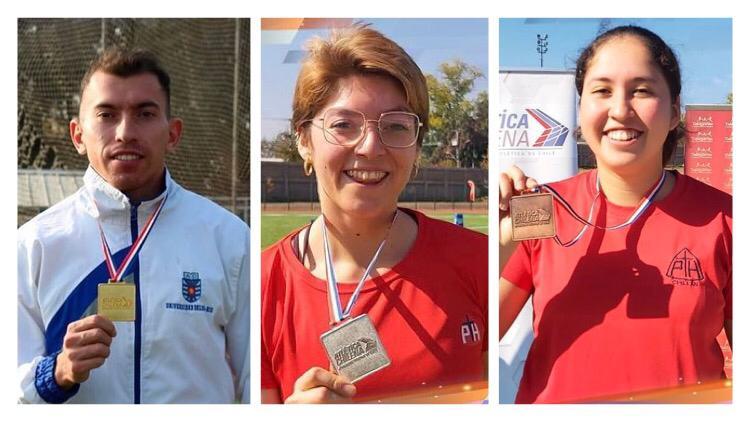 Tres podios para Ñuble en el Nacional de Atletismo