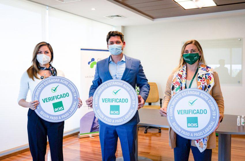 Clínica Chillán recibe el Sello COVID-19 ACHS por cumplir con los estándares de seguridad ante la pandemia